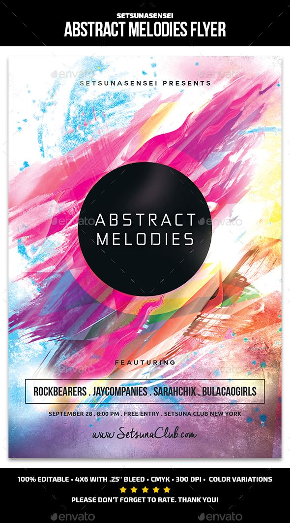 Abstract Melodies Flyer Template PSD. Download here: http://graphicriver.net/item/abstract-melodies-flyer/15213438?ref=ksioks