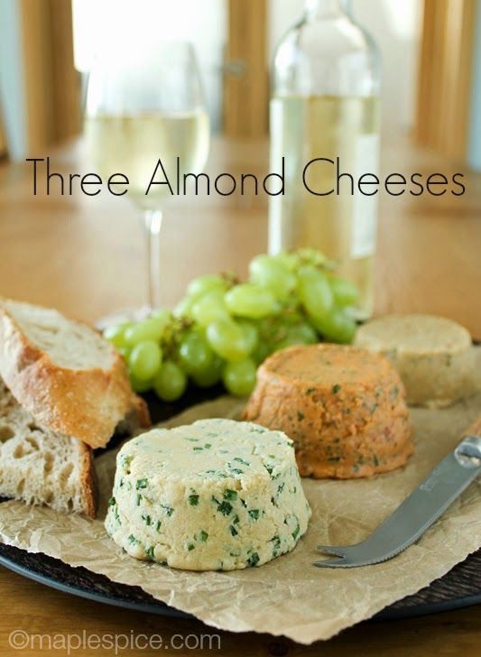A Trio of Almond Cheese: Chive, Sun-Dried Tomato & Basil, Chili & Rosemary