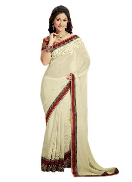 LadyIndia.com #Lahnga Saree, Cream And Maroon - 7003 - Designer Party Saree, Saree,Lahnga Saree, https://ladyindia.com/collections/ethnic-wear/products/cream-and-maroon-7003-designer-party-saree