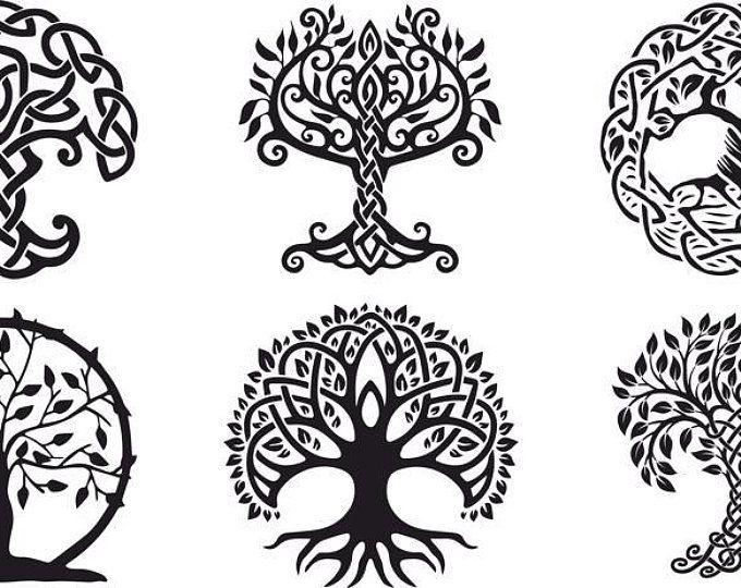 L Arbre Ornement De Vecteur Arbre De Vie Celtique Decoratif