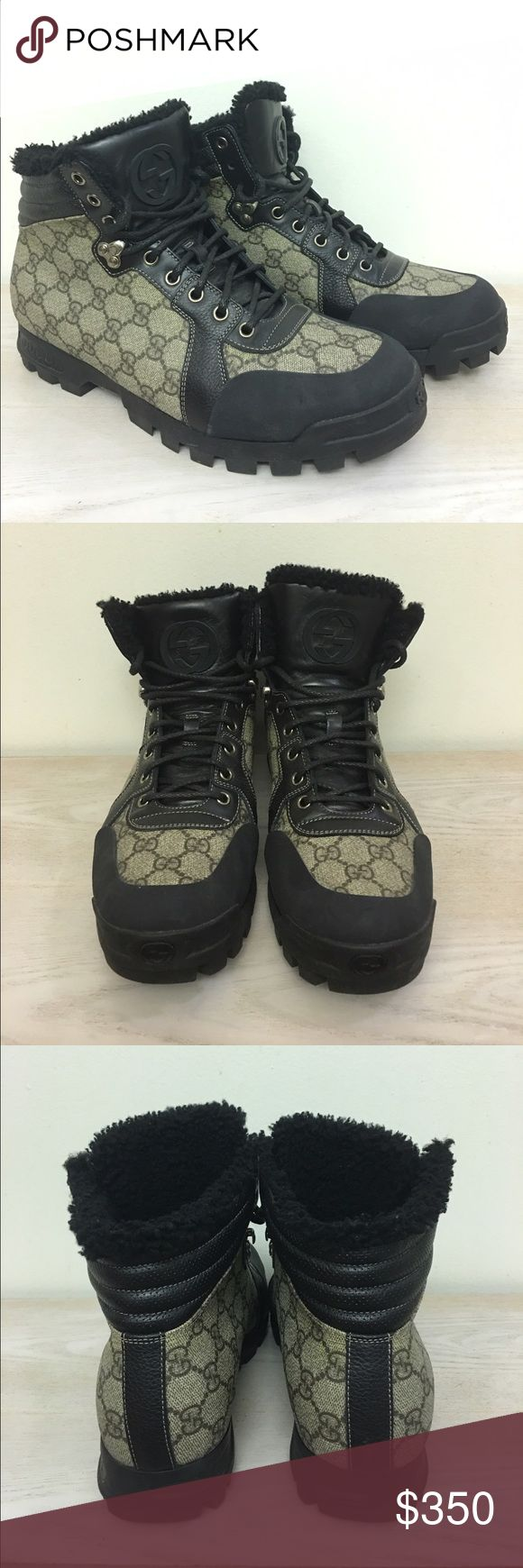 Gucci men's boots These boots are a men's size 8 which is equivalent to a men's US size 9. My boyfriend purchased a ton of Gucci boots and ended up not using most of them. These are in perfect condition! Gucci Shoes Boots