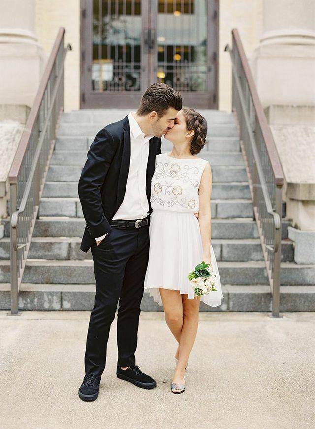 ohdeardrea: a courthouse wedding