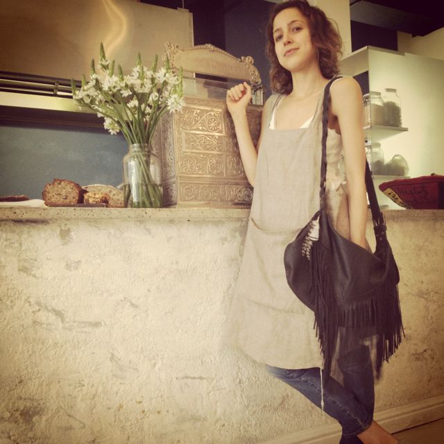 Jesse from Skinny Legs Cafe, Cape Town rocking her Warrior tassel bag!