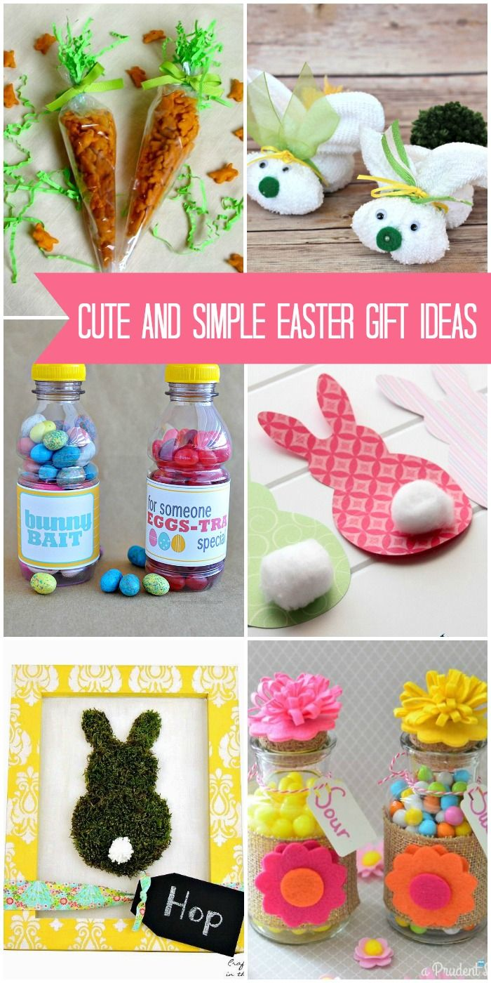 Cute and simple Easter gift ideas - cute Easter crafts and treats perfect for giving!! { lilluna.com }