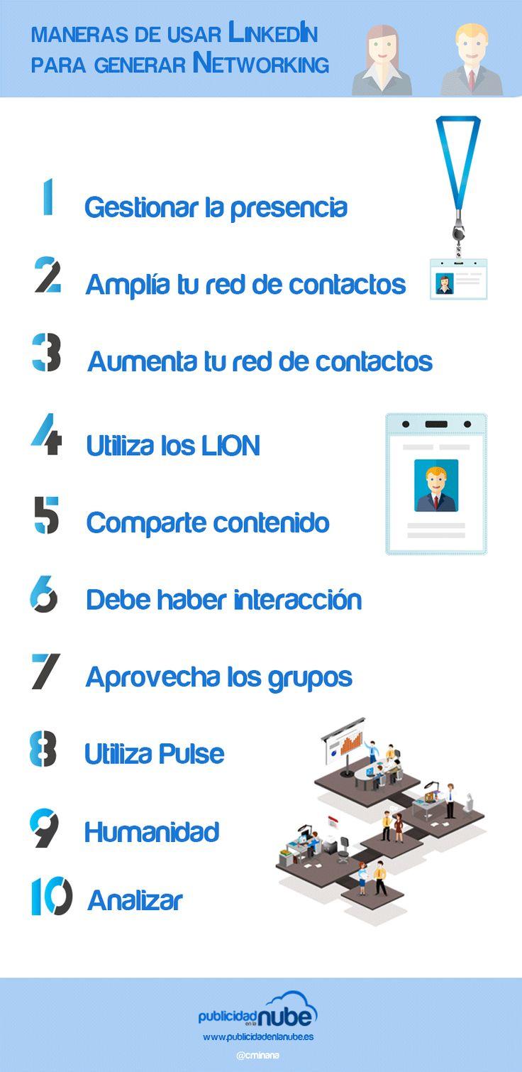10 maneras de usar LinkedIn para generar networking #infografia
