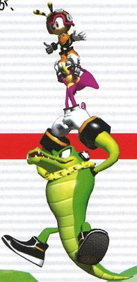Team chatixus manual from the official artwork set for #SonicHeroes on PS2, Gamecube, XBOX and PC. #SonictheHedgehog. #Sonic. http://sonicscene.net/sonic-heroes
