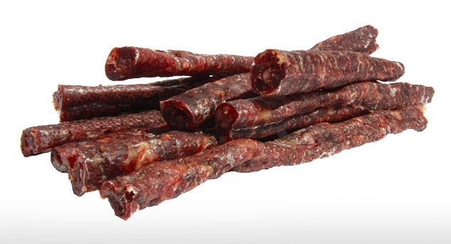 """Droëwors (Afrikaans meaning """"dry sausage"""") is a popular South African snack food, based on the traditional, coriander-seed spiced boerewors sausage. The recipe used for these dried sausages is similar to that for boerewors."""