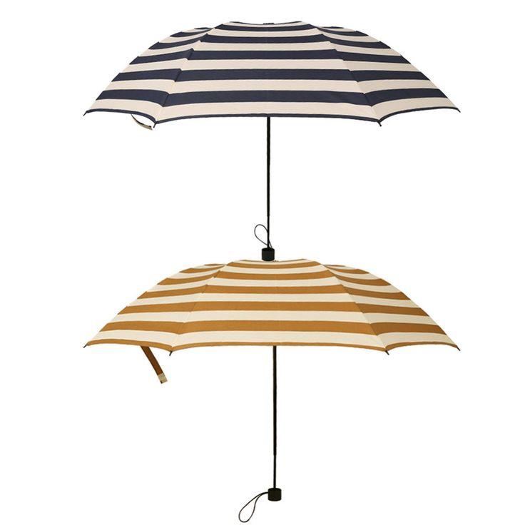 Premium Quality Fashion Stripe Anti-UV Folding Umbrella 2 Colors