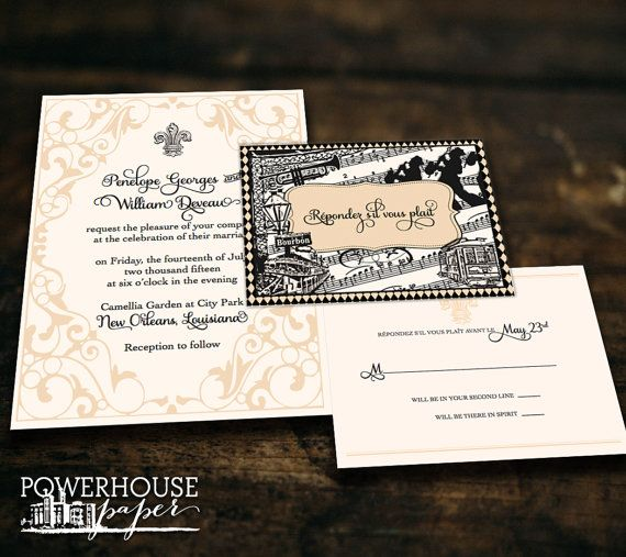 New Orleans Landmark Wedding Invitation Invitations Wedding And Originals