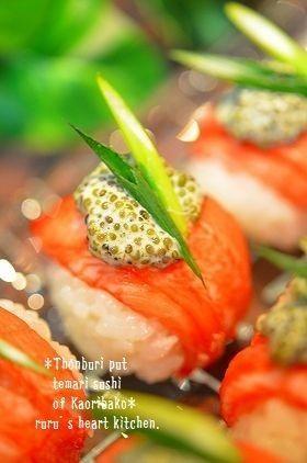 ✿香り箱の手毬寿司♪とんぶりを乗せて✿ by ruruchirin [クックパッド ...