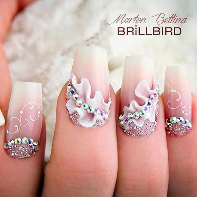 30 Pretty Nails Designs for Weddings or Special Occasions ❤ Fabulous Nail Art For Your Big Day ❤ Are you looking for ideas for pretty nails to sport at your wedding or another special event? Here are chic takes on the classic French mani! https://naildesignsjournal.com/wedding-pretty-nails-designs/ #naildesignsjournal #nails
