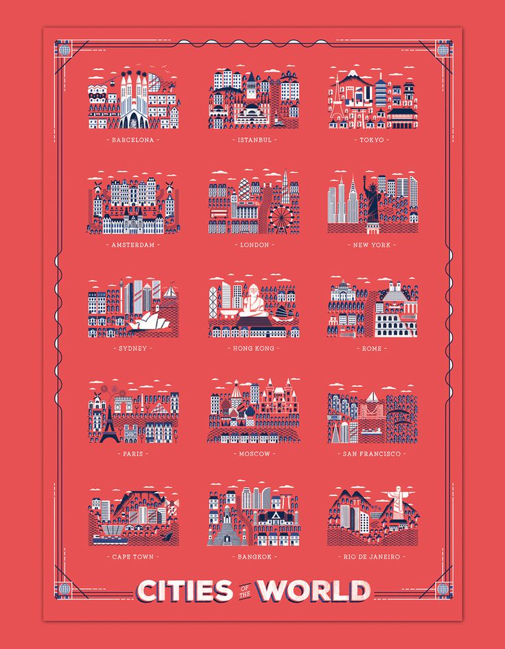 Cities of the world - Great Little Place poster on Behance