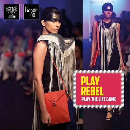 A rebellious you needs a stylish sling to keep your valuables close during a wild party night. Pick up this fiery sling from the Baggit Fall/Winter'15 range featured at Lakme Fashion Week 2015; available now at exclusive Baggit brand stores and www.baggit.com.#PlayTheLifeGame