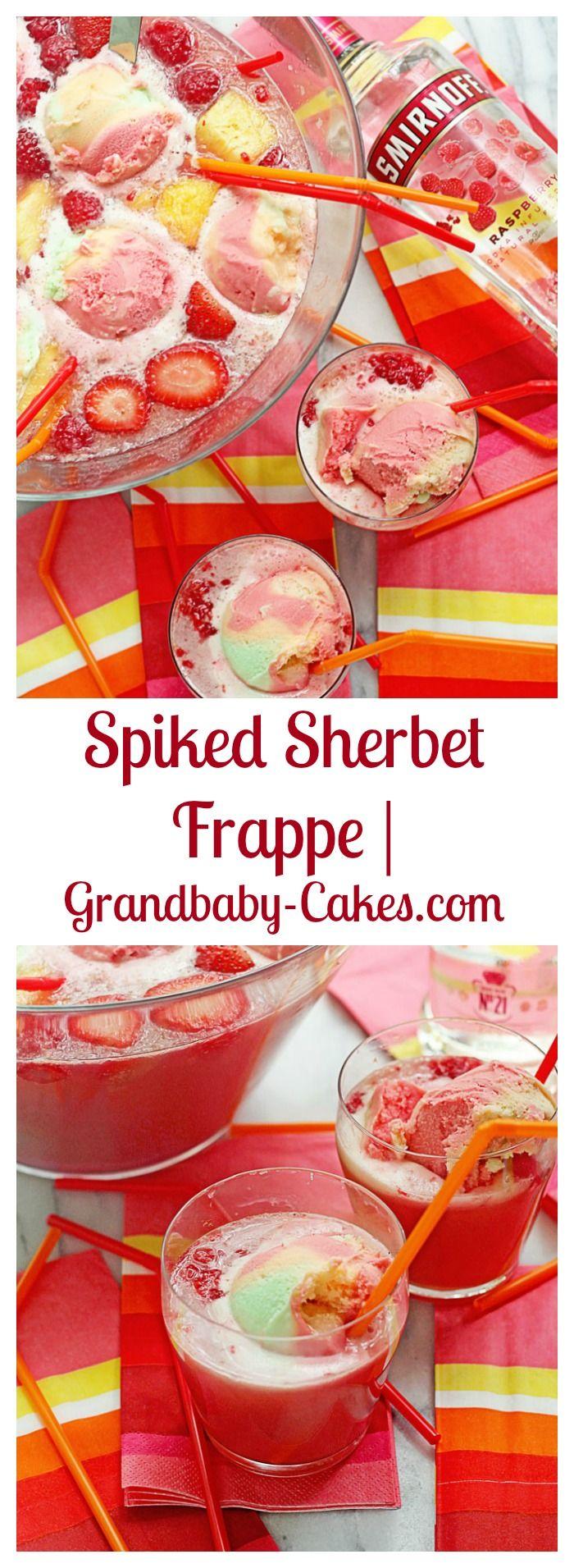 Spiked Sherbet Frappe   Grandbaby-Cakes.com #ad