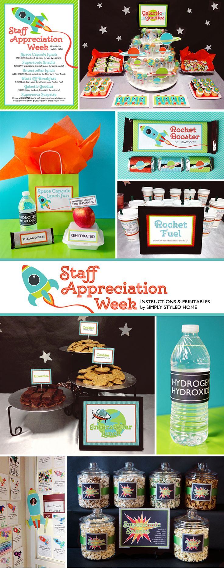 I first posted about the Space Teacher/Staff Appreciation week for my daughter's school on my sister website,Scrapaholics, but I wanted to go into a bit more detail here at Simply Styled Home. This series of posts is for those of you on the PTSA and/or Hospitality Committee at your child's school. Here you will find … Continued