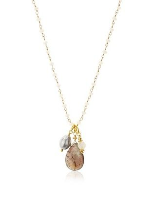 70% OFF Robindira Unsworth Labradorite Cluster Necklace