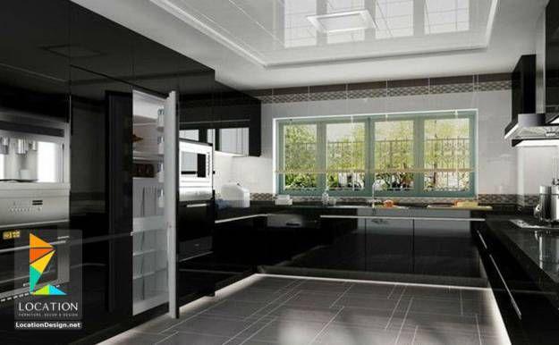 ديكور مطبخ اشكال و الوان مطابخ 2018 2019 White Contemporary Kitchen Contemporary Black Kitchen Contemporary Kitchen Design