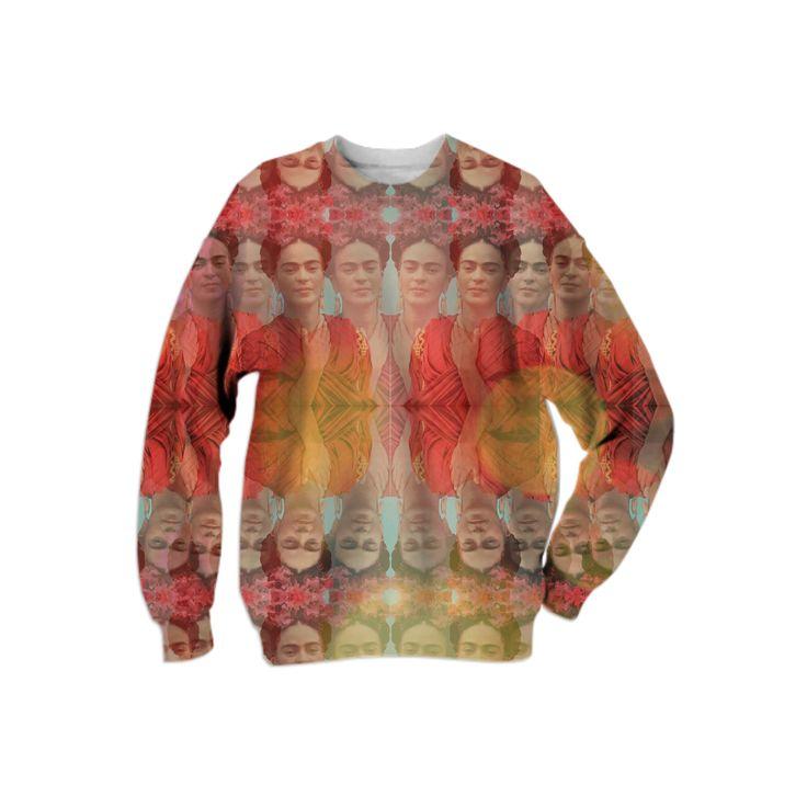 Frida Kahlo Kaleidescope Bokeh Sweater from Print All Over Me