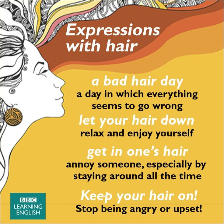 Expressions with ' Hair ' #learnenglish