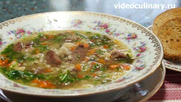 Шотландский перловый суп с бараниной от videoculinary.ru