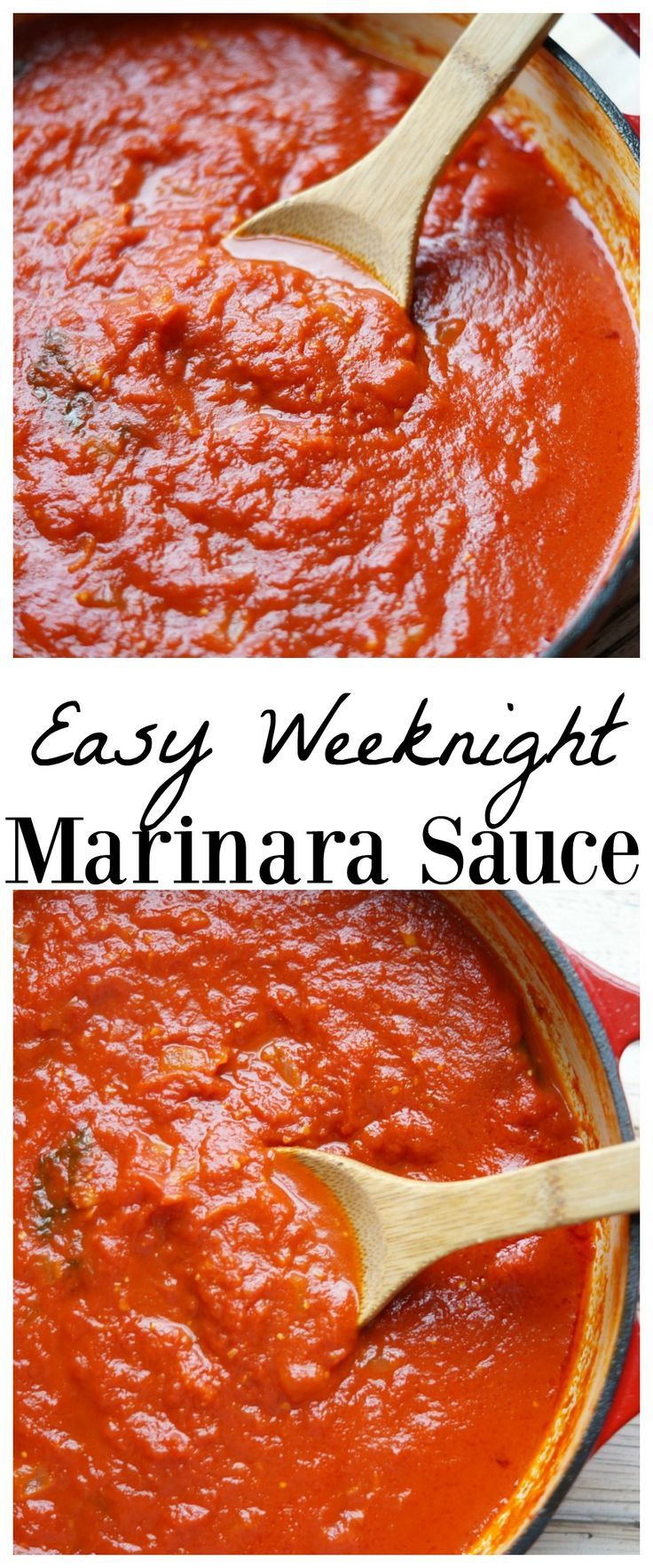 Easy Marinara Sauce to make every mom's life simpler during the work week!