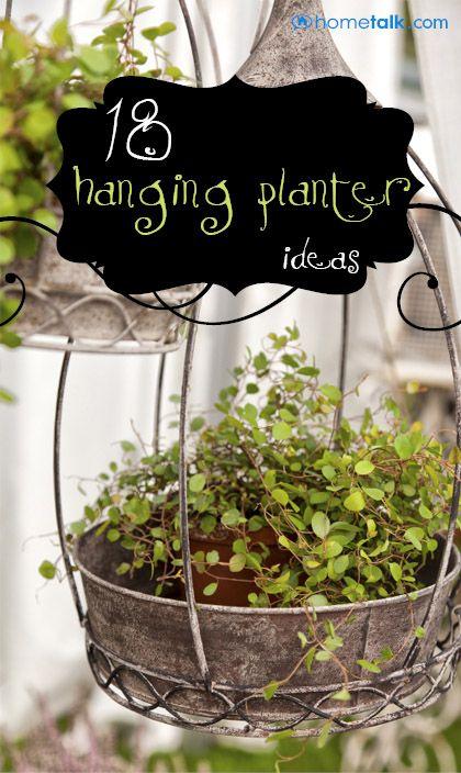 DIY & Crafts - Gardening: 18 Lovely Hanging Planter Ideas!
