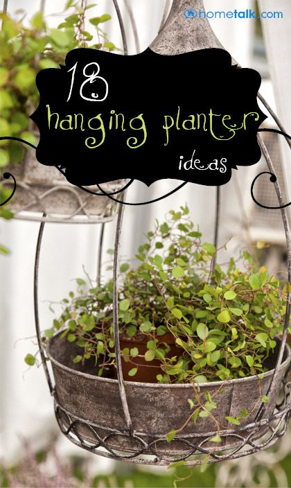 DIY & Crafts - Gardening: 18 Lovely Hanging Planter Ideas!