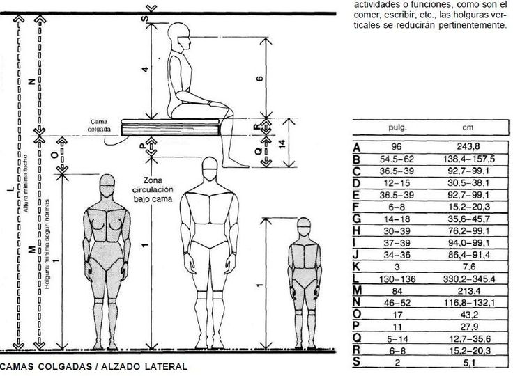 M s de 25 ideas incre bles sobre medidas antropometricas for Cama queen dimensiones