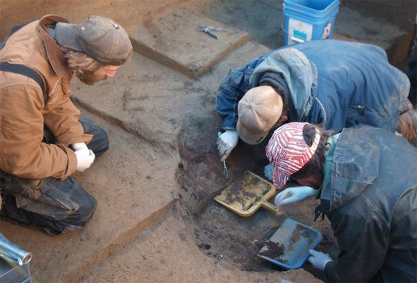 11,500 year old little girl found buried in an ancient fire pit.