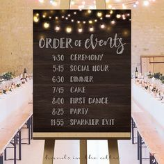 Rustic wedding ideas wedding ceremony sign wedding day schedule order of events wedding sign quality wedding signs customized DIGITAL by HandsInTheAttic