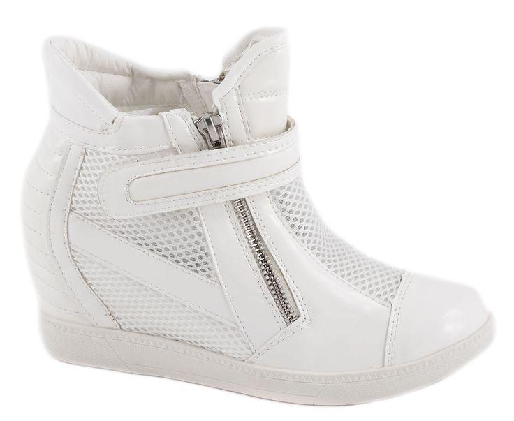 Sneakers Dama - Sneakers albi de dama A-39A - Zibra