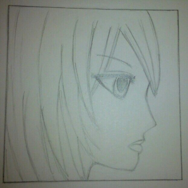 Profile Face Manga Style