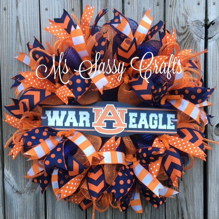 Auburn University Wreath - Auburn Wreath - War Eagle Wreath - Auburn Tigers…