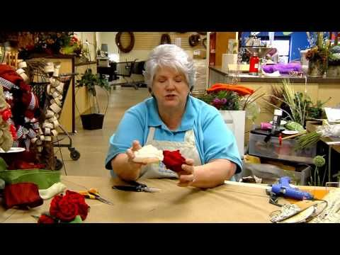 Donna's Tips: Roses of Satin Ribbon and of Burlap - YouTube