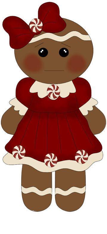 CHRISTMAS GINGERBREAD GIRL CLIP ART