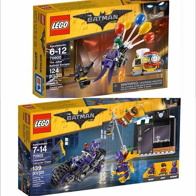 Definitely getting these 2 Lego Batman Movie sets when they come out! I'm so happy that they put Robin, Joker and Batgirl in cheap sets! I can't wait for the whole wave to come out and get these and maybe get a couple of the other sets.  Tell me what sets are your favorites!