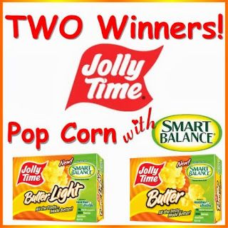 Royalegacy Reviews and More: Snack Heart Healthy - JOLLY TIME Popcorn with Smart Balance - TWO Winner Giveaway & Review - ends 7/14/13 US/CAN