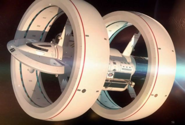 This is NASA's new concept for warp drive interstellar travel. Seriously, they've started working on it now.