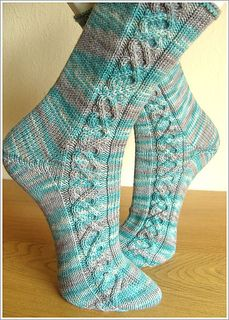 Cabled socks - combining 2 things I don't do very well. :P