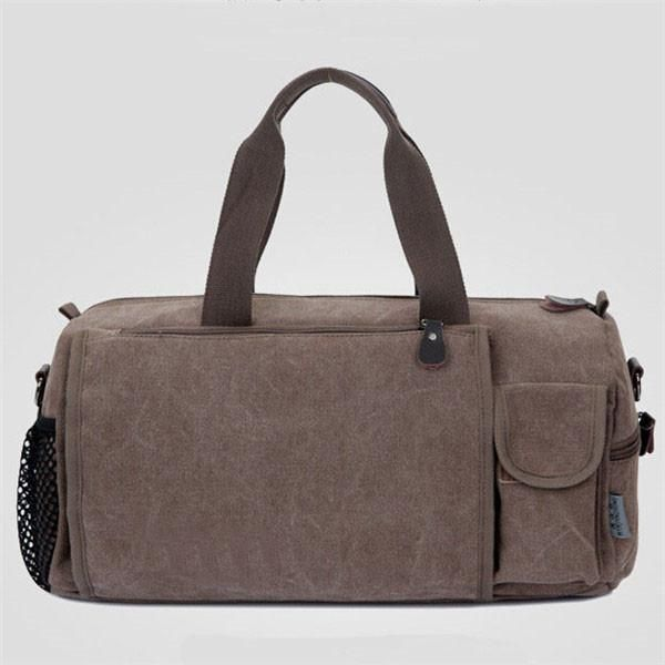 WEIJU Casual Canvas Men Travel Bags Fashion Vintage Luggage Duffle Bags Large Capacity