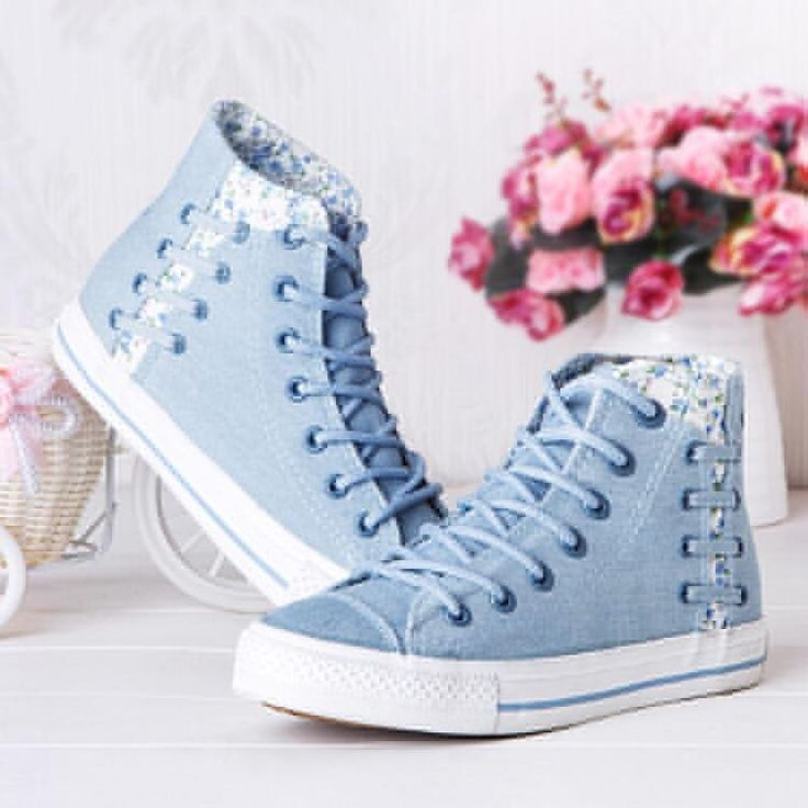 "Cute kawaii floral lace sneakers Coupon code ""cutekawaii"" for 10% off"