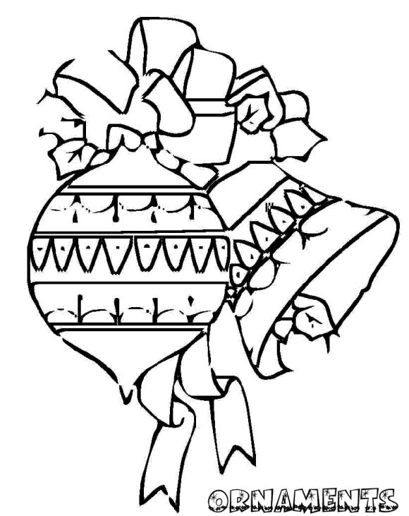 printable coloring pages christmas ornament