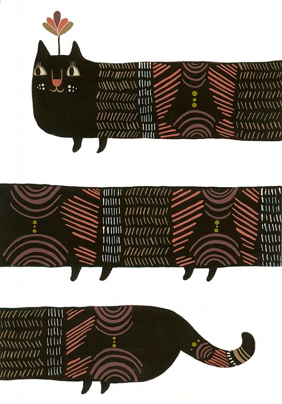 Infinity Kitty Print by Laura George.
