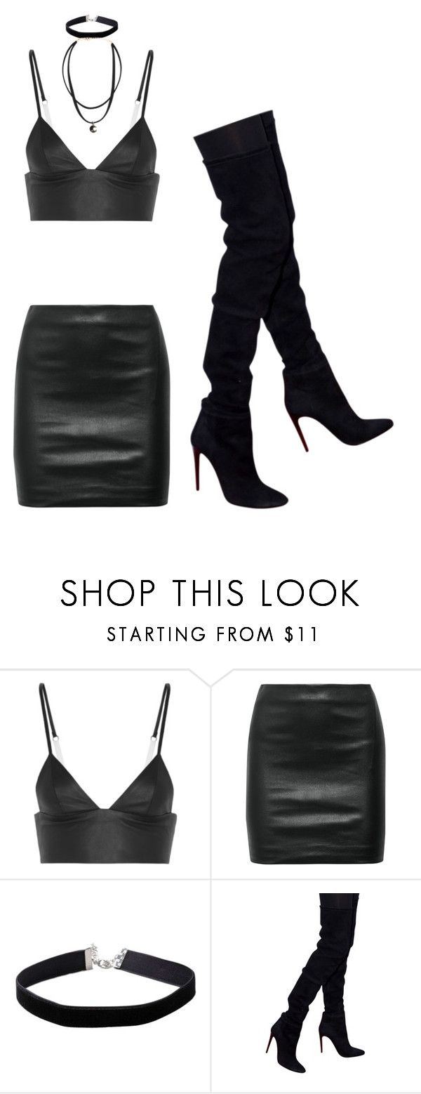 """Dominatrix femboy"" by x666x999x ❤ liked on Polyvore featuring T By Alexander Wang, The Row, Miss Selfridge and Balmain"