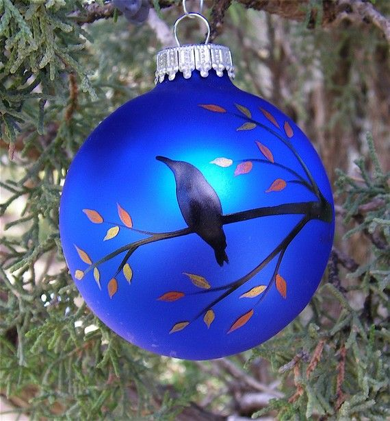 hand painted christmas ornaments ideas | hand-crafted crow ornaments for  all crow-lovers. Great gift ideas ... | Christmas ornaments | Pinterest |  Ornaments ... - Hand Painted Christmas Ornaments Ideas Hand-crafted Crow Ornaments