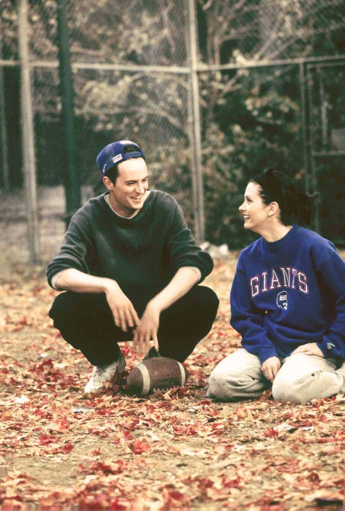 """FRIENDS: Season 3: Ep. 9 - """"The One with the Football"""" (1996) The gang play a game of touch football on Thanksgivings."""