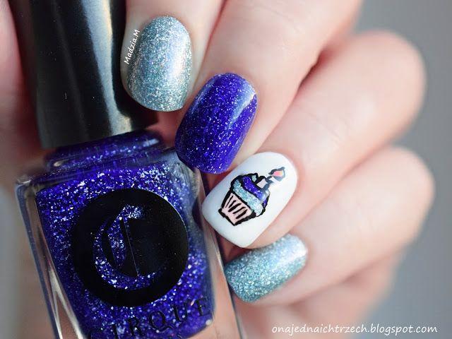 Ona jedna, a ich trzech: My Birthday nail design