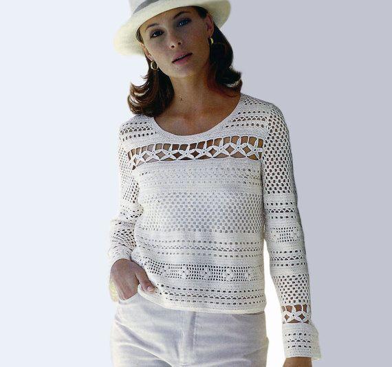 Crochet tunic PATTERN elegant crochet tunic por FavoritePATTERNs                                                                                                                                                                                 Más