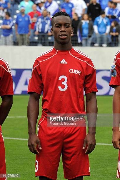 Yosmel De Armas of Cuba plays against the El Salvador in a 2012 CONCACAF Men's Olympic Qualifying match at LP Field on March 24 2012 in Nashville...