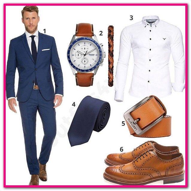 Blauer Anzug Brauner Gurtel Schwarzer Anzug, brauner Schuh